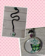Handmade Crochet Butterfly Bookmark black thread