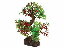 Bonsai Tree sur base rock Vivarium Aquarium Ornament Fish Tank Décoration