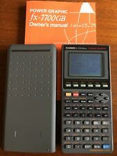 Casio 7700GBus Graphing Calculator Works w/ Owner's Manual New Batteries Power G