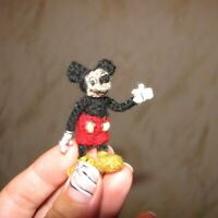 Miniature Ooak Mickey Mouse Artist Disney Character Dollhouse Doll Toy Gift
