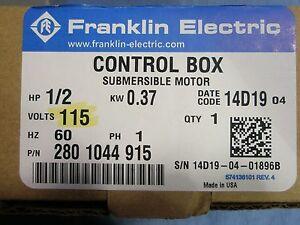 1/2 HP 115V Franklin QD Control Box Submersible Water Pump # 2801044915 NEW