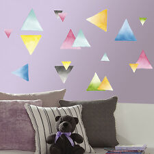 WATERCOLOR TRIANGLES Peel & Stick Wall Decals 76 New Modern Deco Stickers Decor
