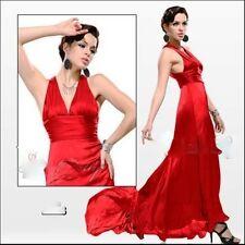 robe de soirée ,cocktail, en satin taille 38 rouge PASSION
