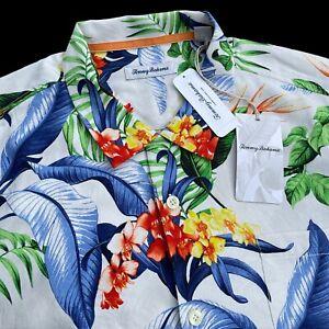 Tommy Bahama 100% Silk Garden of Hope and Courage Hawaiian Camp Shirt XL $135