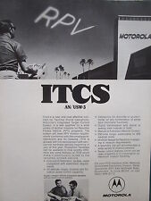 6/1971 PUB MOTOROLA ELECTRONICS ITCS INTEGRATED TARGET CONTROL SYSTEM RPV AD