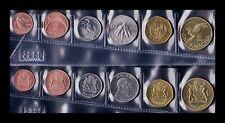 B-D-M Malawi Set 6 Monedas 1 2 5 10 50 Tambala 1 Kwacha 2003 - 2004 SC UNC
