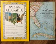 National Geographic July 1961 With US Map, Coke Ad,Route 40,Indian Boy,TIROL