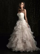Allure Bridal Style 8955 Ball Gown Organza And Lace, NWT Size 12