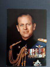 ORIGINAL PRINCE PHILIP DUKE OF EDINBURGH IN UNIFORM POSTCARD 1977.