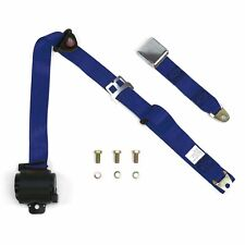 3Pt Dark Blue Retractable Seat Belt Airplane Buckle - Each hot rods rat rods