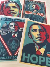 Shepard Fairey (4pc) Obama Collection Art Print Large Size #O41319