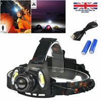 New LED Zoomable Headlight Torch T6 Headlamp Head Light Lamp Rechargeable AR4U