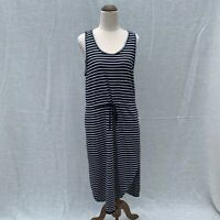 Decjuba Black & White Striped Drawstring Sleeveless Dress Size 12 Casual