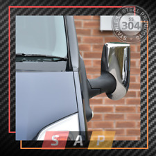 Ford Transit MK6 MK7 2000-2013 Chrome Mirror Cover 2 Pcs. Stainless Steel