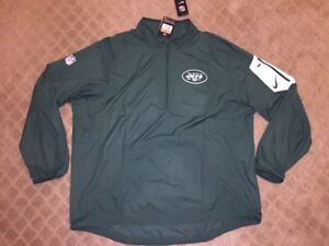 Mens New York Jets Nike Green Quarter Zip Pullover Jacket Size XXL New With Tags