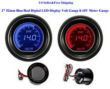 """2"""" 52mm Blue/Red Digital LED Display Volt Gauge 8-18V Meter Gauge Boat Car"""