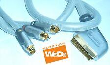 Belkin White Series PureAV 24K Gold Scart Cable 1m 4 MINI PIN