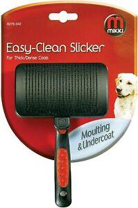 MIKKI EASY-CLEAN SLICKER FOR FINE/MEDIUM COATS MOULTING & UNDERCOAT