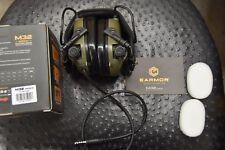 EARMOR OPSMEN Tactical Earmor M32 MOD3 Electronic Headphones AUX NATO Input GREE