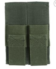 Voodoo Tactical 20-0119-OD Green Nylon Open Top Double Pistol Mag Pouch