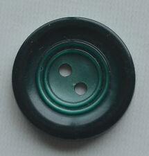 "Gr102/ 12 VINTAGE DARK AND LT GREEN CASEIN PLASTIC BUTTON 3/4"" QUANTITY DISCOUNT"