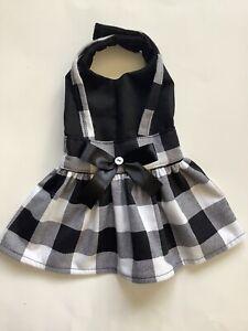 Handmade Plaid Doggie Dress Size medium