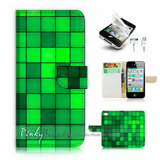 ( For iPhone 4 / 4S ) Flip Case Cover! P0603 Abstract Pattern