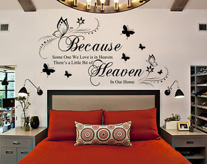 Because Someone We Love is in Heaven Quote Wall Art Sticker  uk 175