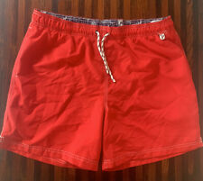 Lands End Mens Large Swim Trunks Red