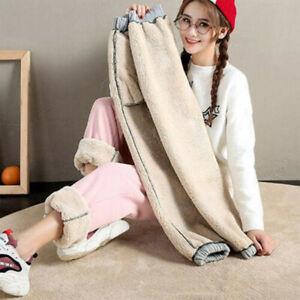 Fleece Lined Sweatpants Warm Women Jogger Pants Womens Sport Harem Trousers