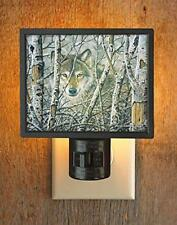 Wild Wings Woodland Realm Wolf Gallery Wall Night Light Lodge Decor Us plug