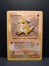 Sandshrew Common - 62/102 Shadowless Base Set NM