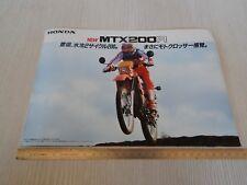 rara brochure originale Honda mtx 200 r + foglio accessori depliant prospekt