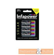 AA Rechargeable Garden Outdoor Solar Light Batteries 600mAh | Pack of 4