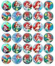 Sirenita Ariel Disney Cupcake Toppers Comestibles De Oblea Compre 2 obtenga 3ª Gratis!