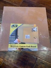 "Board Dudes 17"" x 17"" Unframed Magnetic Canvas Cork Board (17031)"