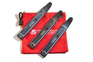 AIRCRAFT TOOLS NEW  AES SHEETMETAL 3 PC SET OF  SKIN WEDGES / SPOONS IN POUCH