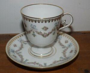 Tasse & sous-tasse XIXème Limoges JPL Jean Pouyat - Limoges porcelain cup