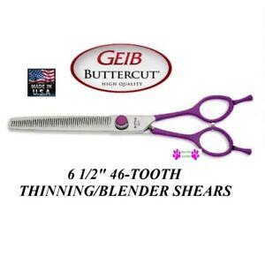Geib GATOR Buttercut SHEAR Scissor 46 Tooth THIINNER Blending*RIGHT or LEFT HAND