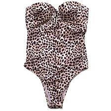 Victoria's Secret Swim One Piece Bathing Suit Strapless Keyhole Open Back Vs New
