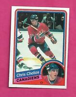 1984-85 OPC # 259 CANADIENS CHRIS CHELIOS  ROOKIE NRMT-MT CARD (INV# D3845)