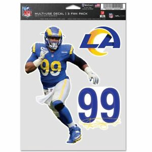 AARON DONALD LOS ANGELES RAMS 3 PIECE MULTI-USE DECALS NFL LICENSED