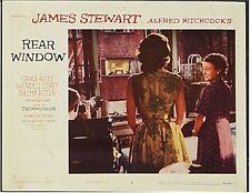 REAR WINDOW, JAMES STEWART, 1954, LOBBY CARD GROUP SPYING