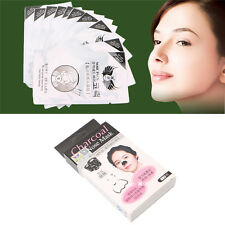 10pcs Bamboo Charcoal Nose Pore Cleansing Strips Blackhead Peel Off Mask Pack