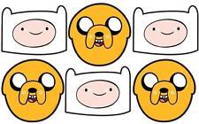 Jake et Finn Adventure Time variété Pack de six amusant CARTE FACE Masques 3 of