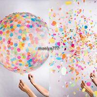 Ballon confettis géant 91cm décoration mariage baptême anniversaire fêtes salle.