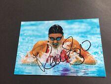 Rebecca Soni 3x rispondevamo nuotare 2008+2012 SIGNED PHOTO 10x15 in-persona