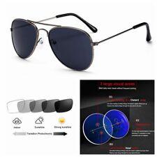 Multifocal Progressive Varifocals Aviator Photochromic Reading Glass +1.0 ~+3.0