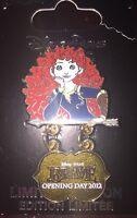 Disney Pin Opening Day 2012 Brave Merida Princess On Card Movie