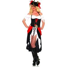 Sexy Scallywag Lady PIRATE BEAUTY Costume + HAT Women Dress Skirt Adult XL 14 16